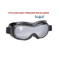 Очки Airfoil Black Goggles With Anti Fog Smoke Silver Mirror Polycarbonate Lens With UV 400