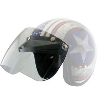 Визор Outlaw Universal 3 Snap-Button Visor with Flip-up Clear Shield for Open Face Helmets