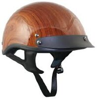 Шлем Outlaw Brown Wood Grain Half Helmet